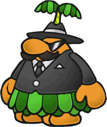 The sprite of Don Pianta from the game Paper Mario: The Thousand-Year Door.