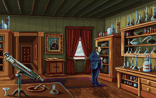Louis Pasteur in the PC release of Mario's Time Machine
