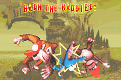 Bash the Baddies! Bonus Area title card in Donkey Kong Country