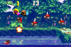The second Bonus Area of Lightning Lookout in the Game Boy Advance version