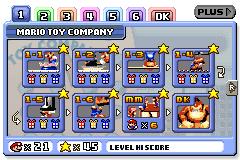 Mario Toy Company level screen in Mario vs. Donkey Kong