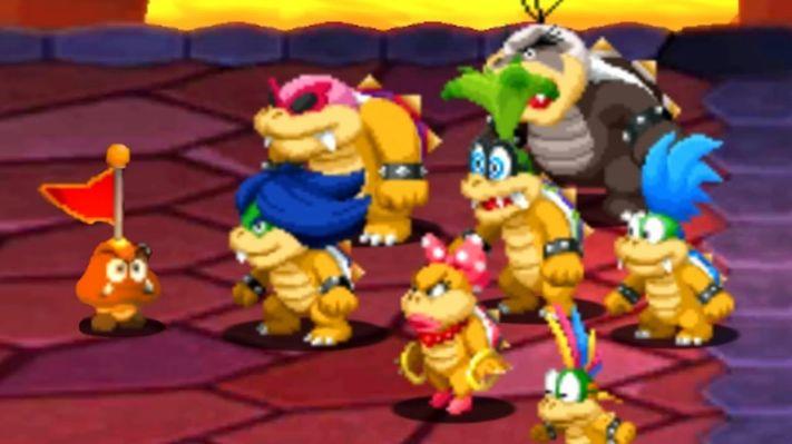 Koopalings with Captain Goomba