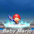 Baby Mario in tennis from Mario Sports Superstars