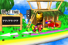 Funky's Flights II in Donkey Kong Country 2 on the Game Boy Advance