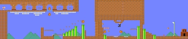 Layout of Starfy: Prince of Pufftop in Super Mario Maker.