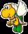 A Paper Paratroopa's battle sprite from Mario & Luigi: Paper Jam.