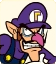 Sprite of Waluigi from Mario Party: Star Rush character select screen.