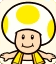Sprite of Yellow Toad from Mario Party: Star Rush