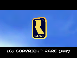 The Rareware logo on start-up of the Japanese release of Diddy Kong Racing.