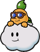 An unused image of Lakilester, for Super Paper Mario.