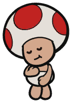 The Toad's BBQ Foodeatery caretaker from Paper Mario: The Origami King
