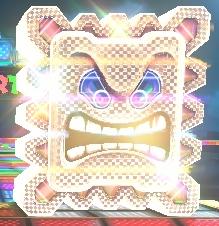 A Super Thwomp in Mario Kart 8