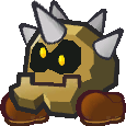 Sprite of a Moon Cleft from Super Paper Mario.