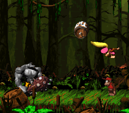 Kudgel's Kontest from Donkey Kong Country 2: Diddy's Kong Quest