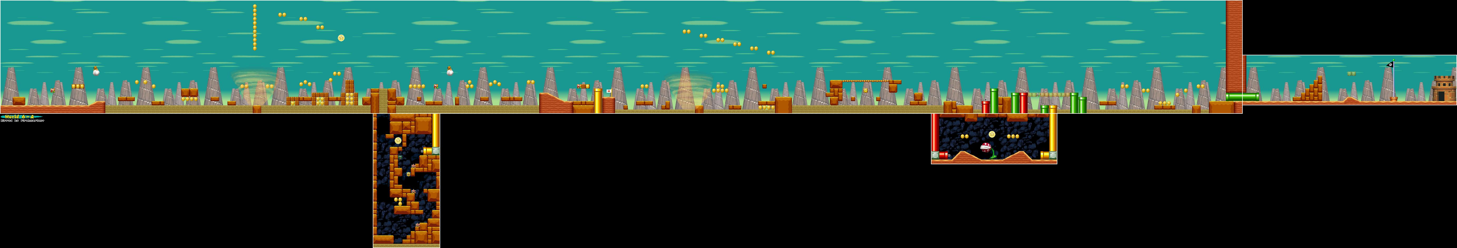 New Super Mario Bros. World 6-A Map
