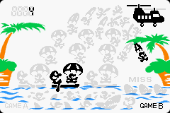 Parachute as it appears in Game & Watch Gallery 4