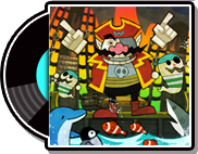 The record case for Dancin' Pirates in WarioWare Gold
