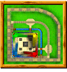 Smokey Castle course icon from Diddy Kong Racing DS.