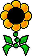 Sprite of a yellow Floro Sapien from Super Paper Mario.