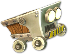 Artwork of a Mine Cart from Donkey Kong Country: Tropical Freeze.