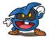 Blue Virus Sticker