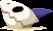 Sprite of a Sharkbone in the sand in Mario & Luigi: Superstar Saga + Bowser's Minions.