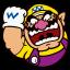Wario from Mario & Friends, from Nintendo Badge Arcade