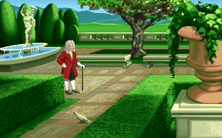 Isaac Newton in the PC release of Mario's Time Machine