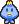 A blue Oho Jee's overworld sprite from Mario & Luigi: Superstar Saga.