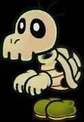 Sprite of a Dull Bones from Super Paper Mario.