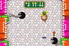 Barrel Peril mini-game from Mario Party Advance.