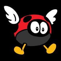 Para-Biddybud stamp from Super Mario 3D World + Bowser's Fury.