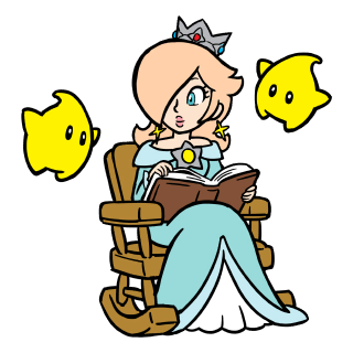 Rosalina and two Lumas stamp from Super Mario 3D World + Bowser's Fury.