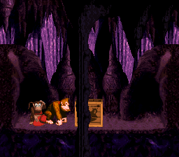 The Winky crate room in Bouncy Bonanza from Donkey Kong Country