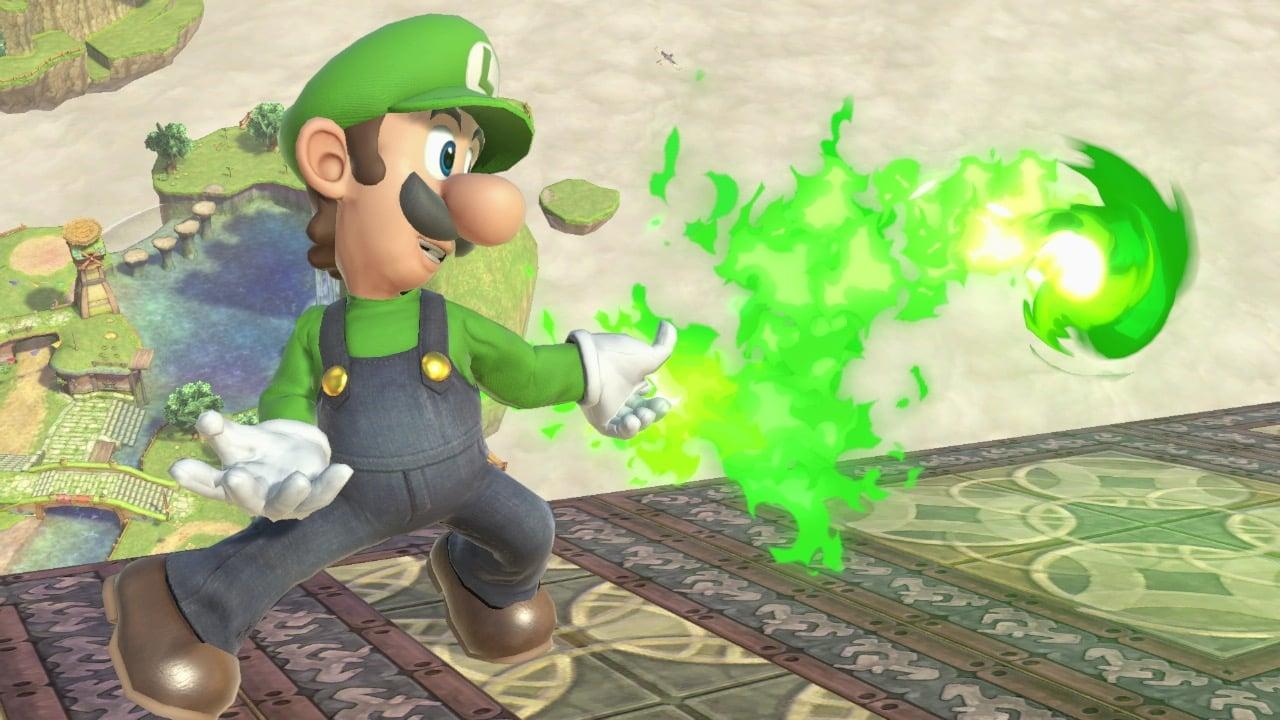 Luigi's Fireball in Super Smash Bros. Ultimate