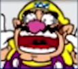 A shocked Wario icon (from losing) from Mario Party: Star Rush