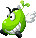 Sprite of a Parabeanie from Mario & Luigi: Superstar Saga + Bowser's Minions.