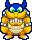 Rookie's overworld sprite from Mario & Luigi: Superstar Saga.