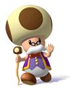 A Sticker of Toadsworth (from Super Mario Sunshine) in Super Smash Bros. Brawl.