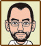 Icon for Bakataru Kato, one of the famous people who created microgames for WarioWare: D.I.Y.