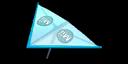 Light blue Mii's Super Glider in Mario Kart 7