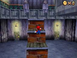 Mario inside Big Boo's Haunt
