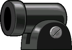 Sprite of a Bill Blaster from Super Paper Mario.