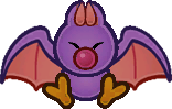 Sprite of a Swooper from Super Paper Mario.