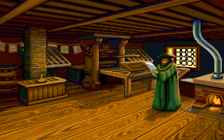 Johann Gutenberg in the PC release of Mario's Time Machine