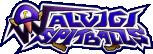 The logo for the Waluigi Spitballs, from Mario Super Sluggers.