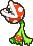 Piranha Bean's overworld sprite from Mario & Luigi: Superstar Saga.