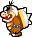 Overworld sprite of Morton from Mario & Luigi: Superstar Saga.
