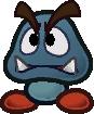 Sprite of a Gloomba from Super Paper Mario.