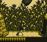 Diddy Kong in the first Bonus Area of Rope Ravine in Donkey Kong Land
